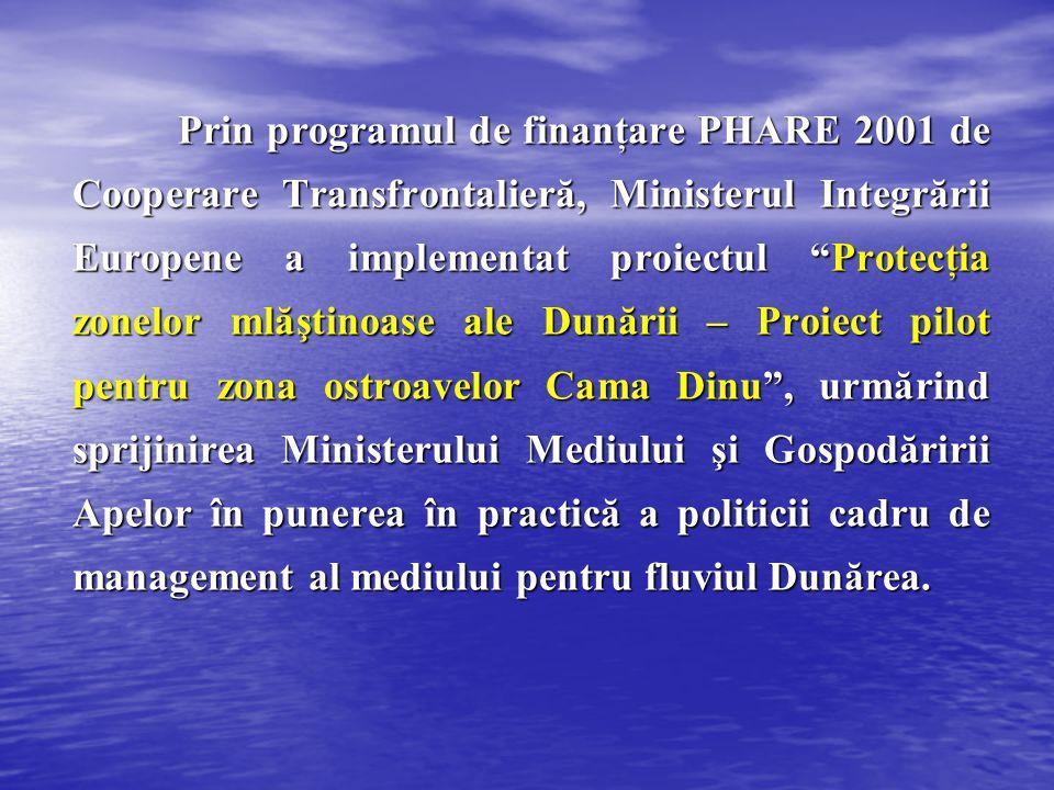 """Prin programul de finanţare PHARE 2001 de Cooperare Transfrontalieră, Ministerul Integrării Europene a implementat proiectul """"Protecţia zonelor mlăşti"""