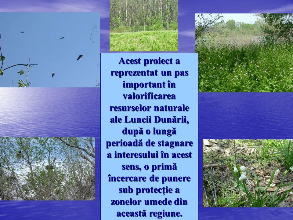 Acest proiect a reprezentat un pas important în valorificarea resurselor naturale ale Luncii Dunării, după o lungă perioadă de stagnare a interesului