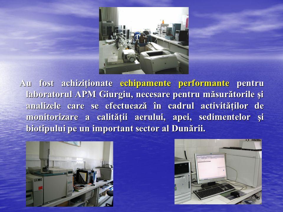 Au fost achiziţionate echipamente performante pentru laboratorul APM Giurgiu, necesare pentru măsurătorile şi analizele care se efectuează în cadrul a