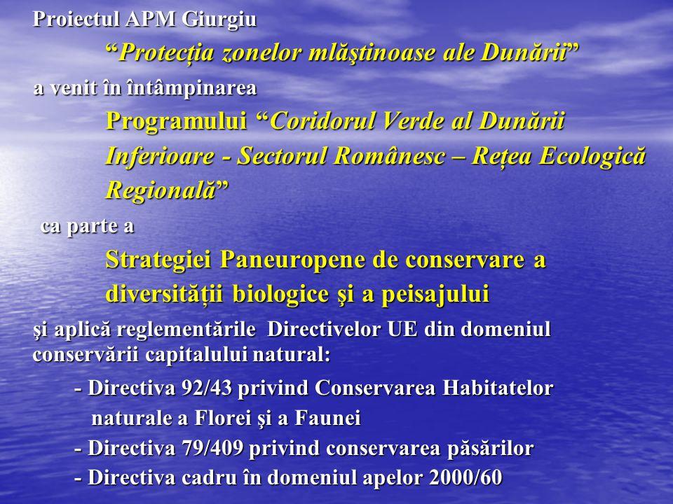 """Proiectul APM Giurgiu """"Protecţia zonelor mlăştinoase ale Dunării"""" """"Protecţia zonelor mlăştinoase ale Dunării"""" a venit în întâmpinarea a venit în întâm"""
