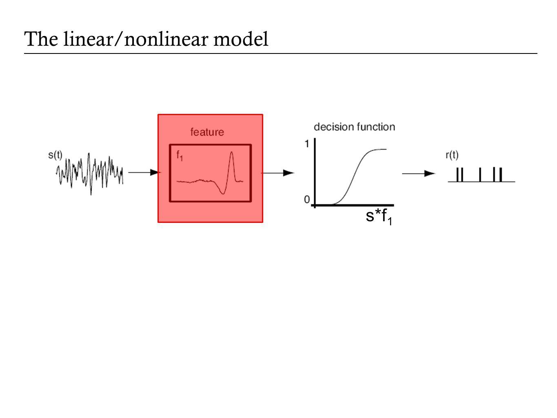 The linear/nonlinear model s*f 1