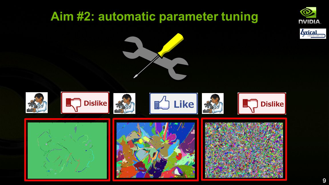 9 Aim #2: automatic parameter tuning