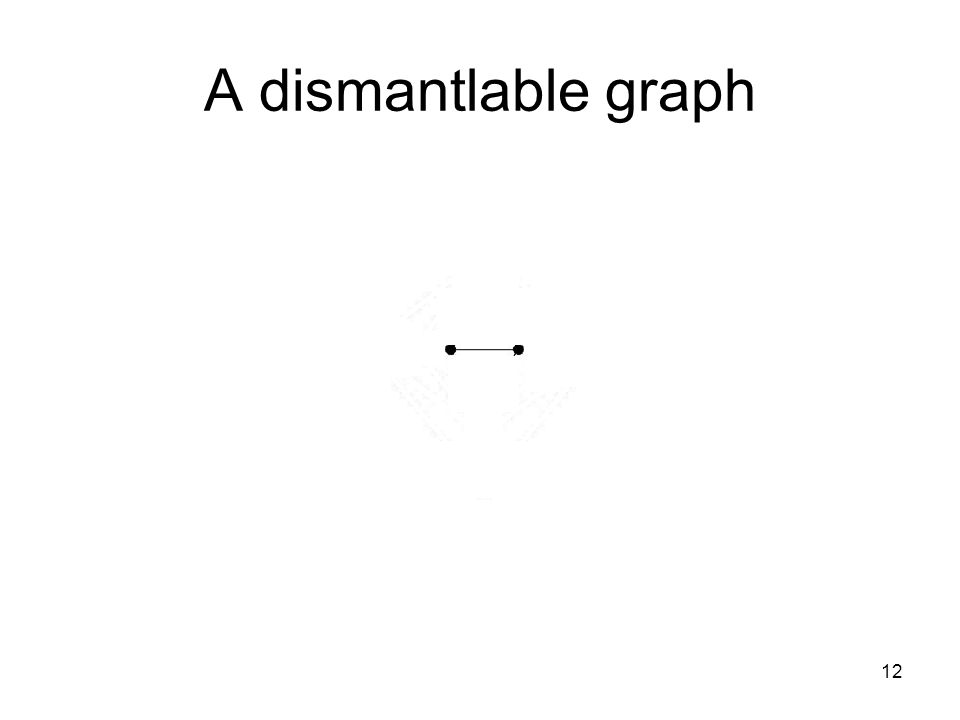A dismantlable graph 12