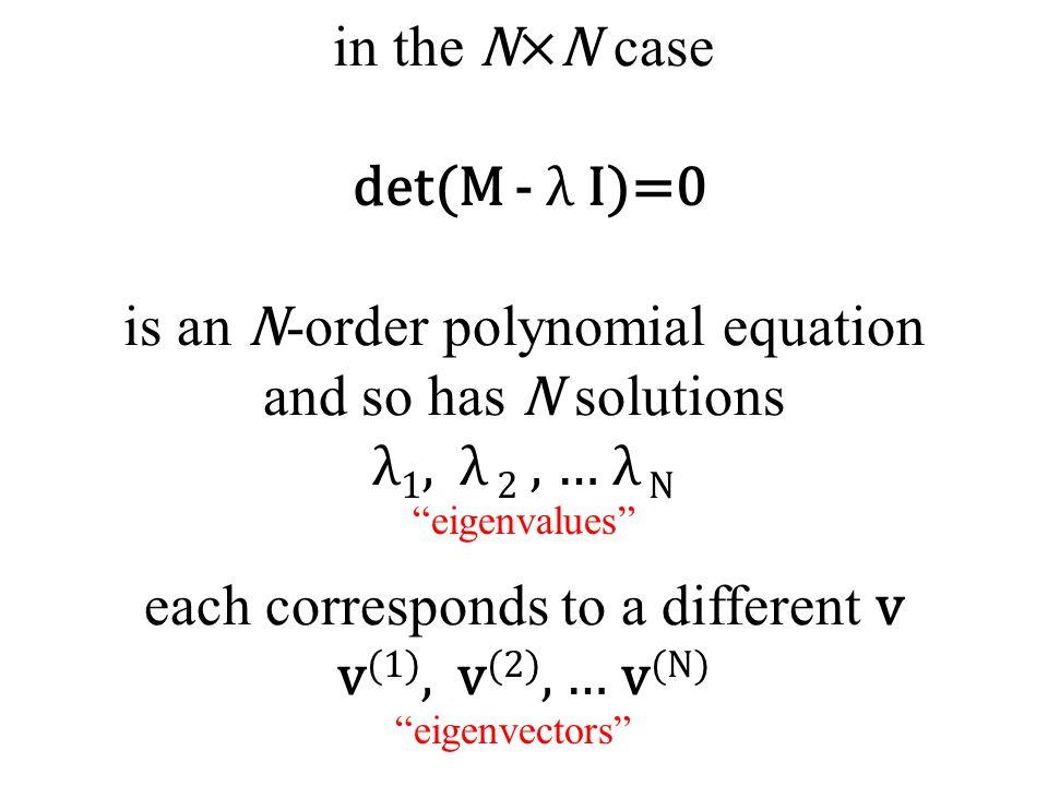 """""""eigenvalues"""" """"eigenvectors"""""""