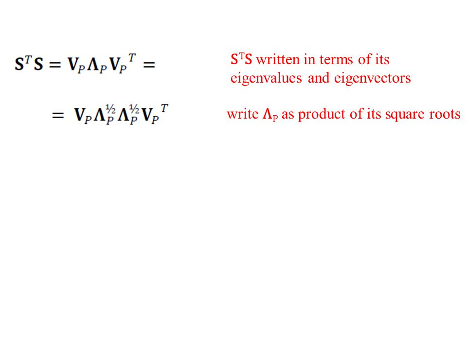 write Λ P as product of its square roots