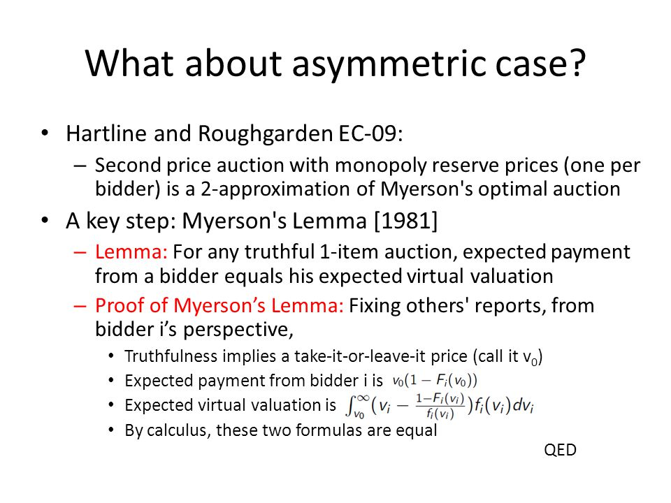 What about asymmetric case.