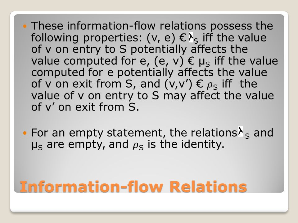 Information-flow Relations