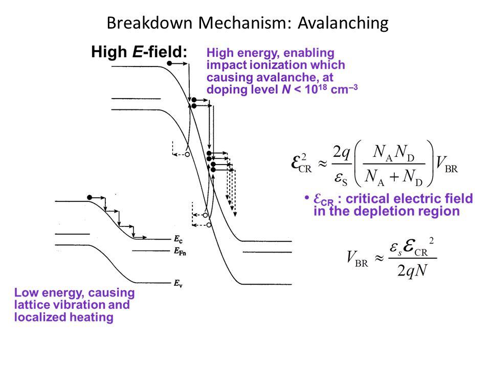 Breakdown Mechanism: Avalanching