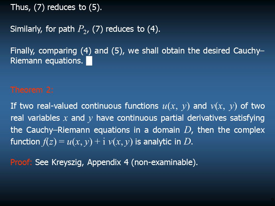 9 Thus, (7) reduces to (5).