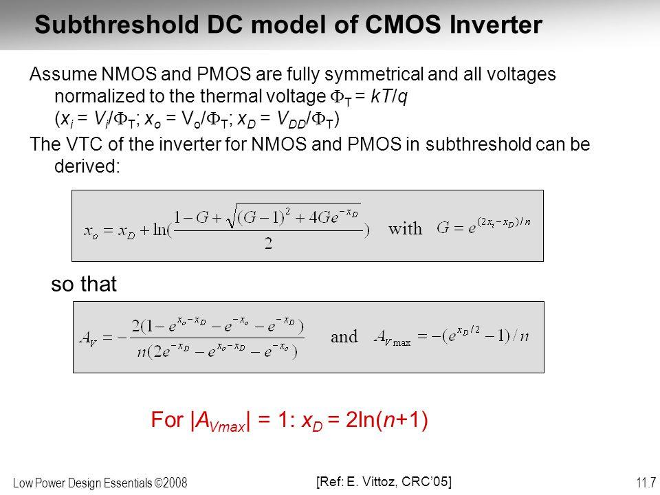 Low Power Design Essentials ©2008 11.38 Modeling Energy  =1  =0.2  =0.02  =0.002