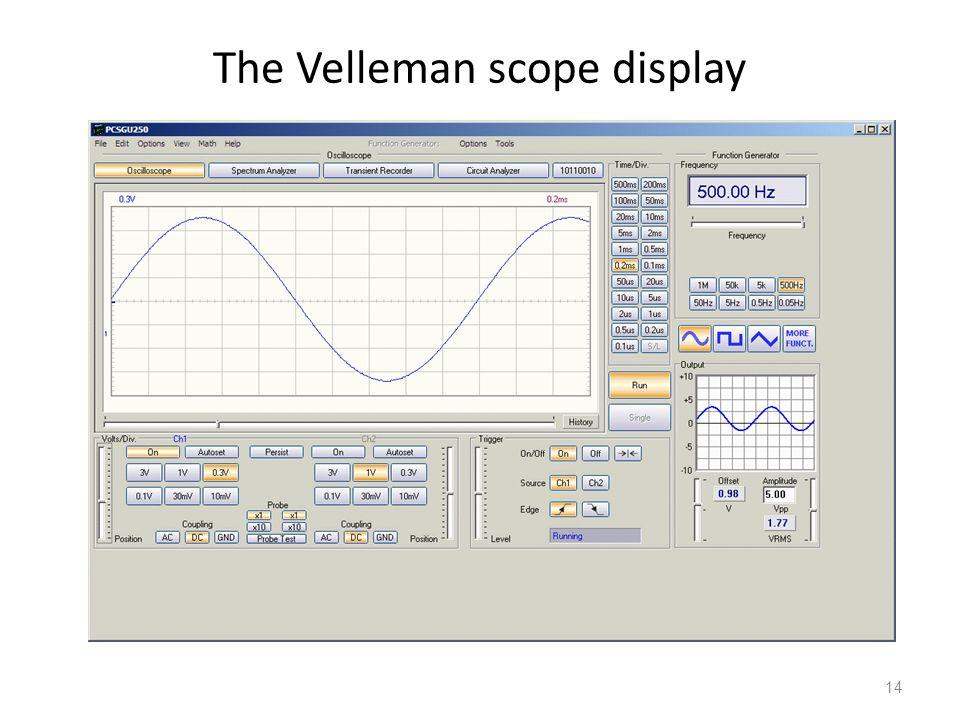 14 The Velleman scope display
