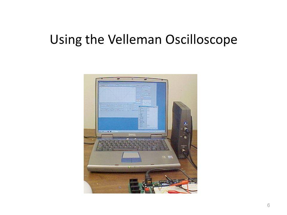 6 Using the Velleman Oscilloscope