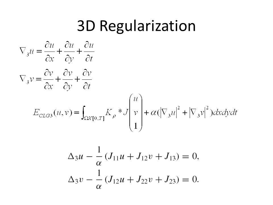 3D Regularization