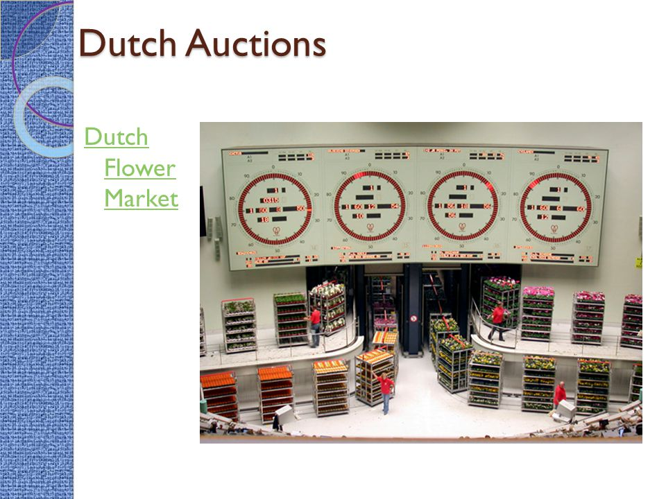 Dutch Auctions Dutch Flower Market