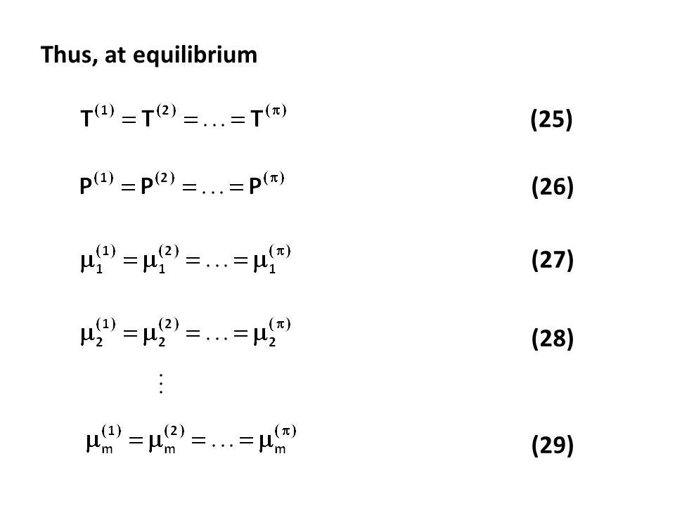 (25) (26) (27) (28) (29) Thus, at equilibrium