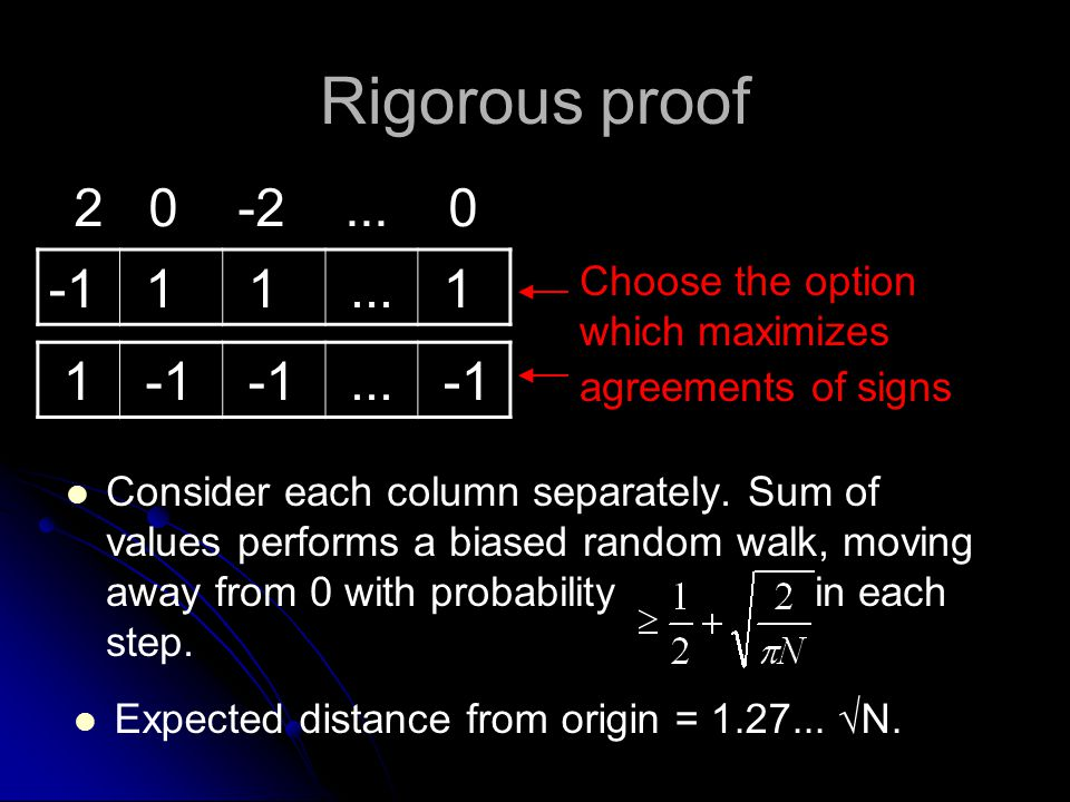 Rigorous proof Consider each column separately.