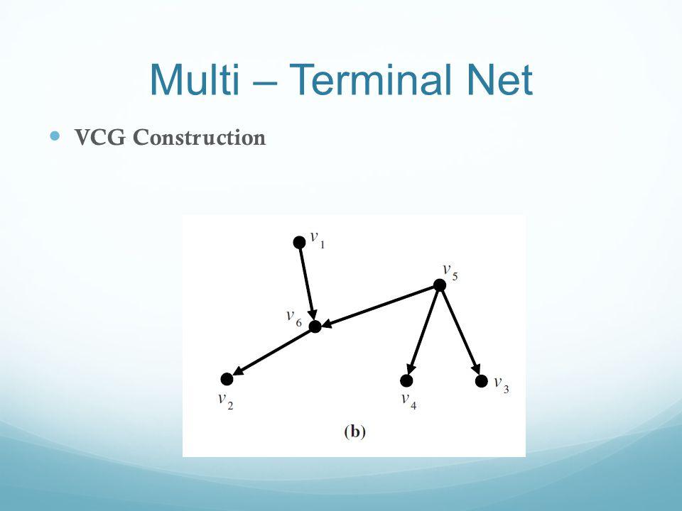 Multi – Terminal Net VCG Construction