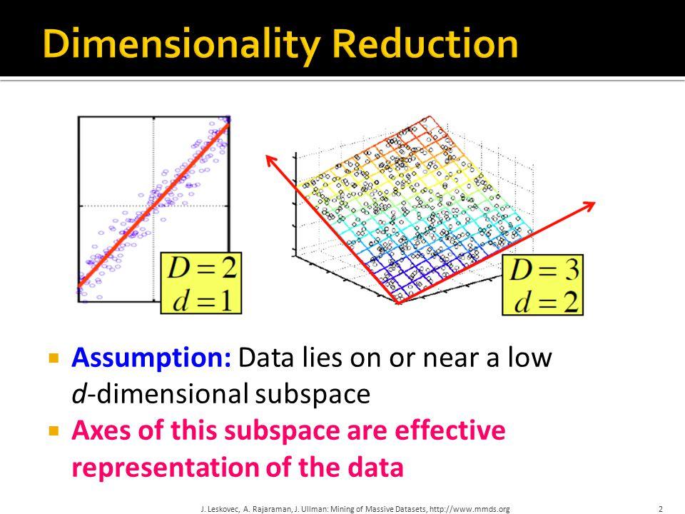 J. Leskovec, A. Rajaraman, J. Ullman: Mining of Massive Datasets, http://www.mmds.org33 Details!