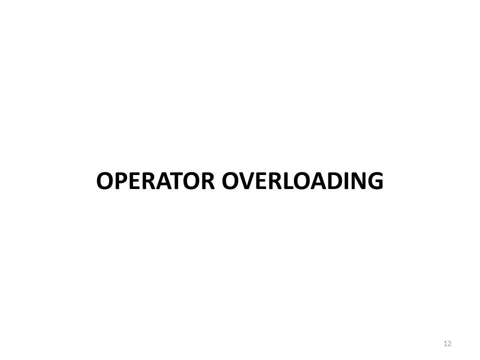 OPERATOR OVERLOADING 12