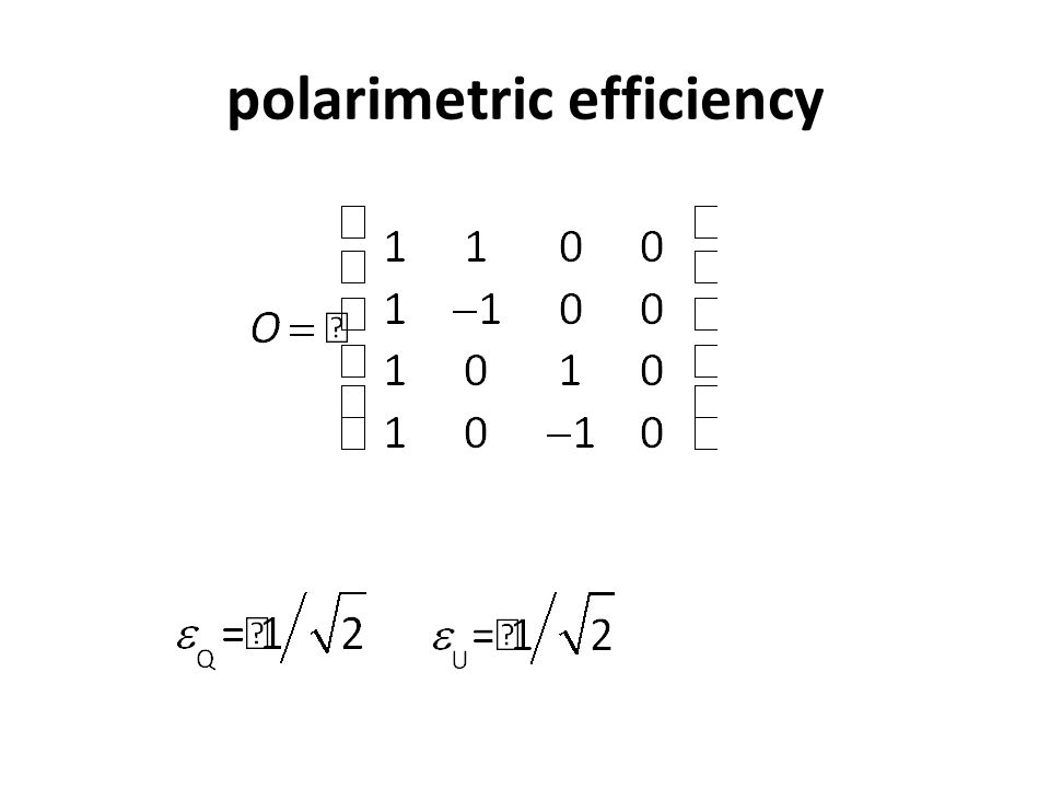 polarimetric efficiency