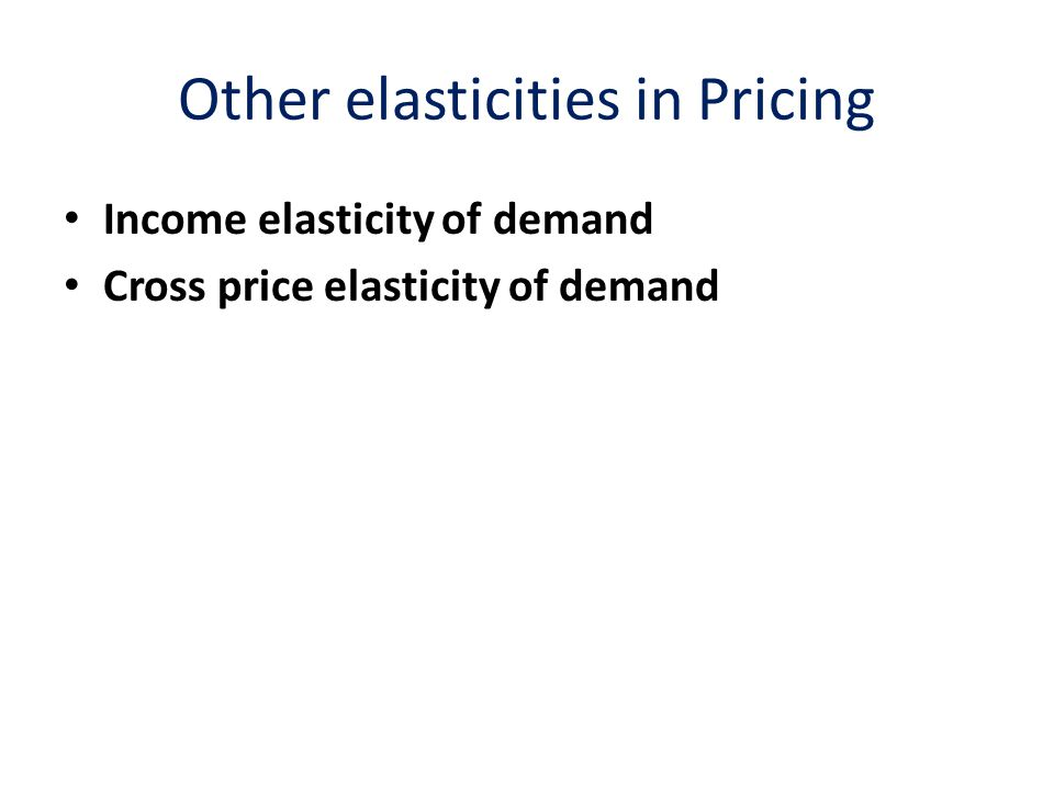 Income Elasticity of Demand Income elasticity of demand: responsiveness of the quantity demanded of a product or service to a change in personal income If E I is negative, the product is an inferior good  Income goes up fewer units are demanded (switch to steak, less hamburger) If E I is positive, the product is a normal good  Demand increases as income increases If 0< E I <1, the product becomes less important in households' consumption plan If E I >1, the product becomes more important as income increases.