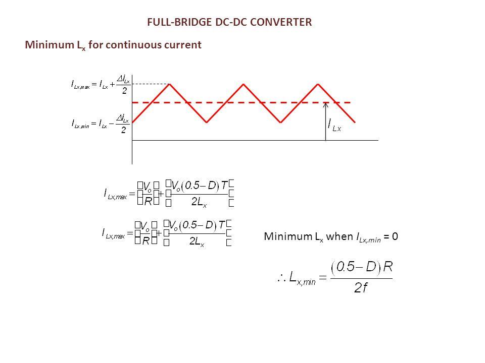 FULL-BRIDGE DC-DC CONVERTER Minimum L x for continuous current Minimum L x when I Lx,min = 0