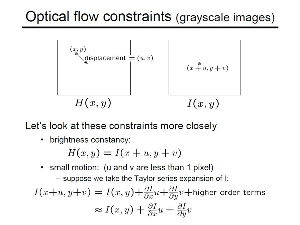 Global Flow Application: Image Alignment