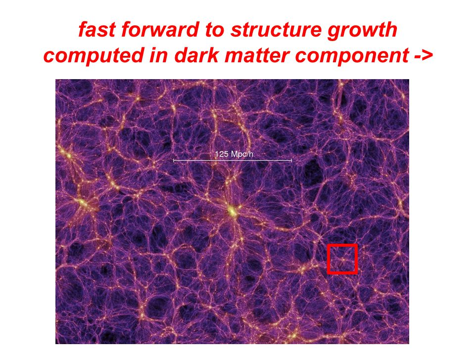 fast forward to structure growth computed in dark matter component ->