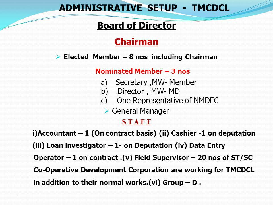 UNIT COST OF TERM & EDUCATION LOAN ACCORDING TO NORMS OF NMDFC Sl No Sectors/SchemeUnit Cost Rs in lakh A ) Transport sector: i) Auto Rickshaw(Petrol) ii) Mini Passenger vehicle & Goods Carrier vehicles @ Rs.1.40 @ Rs.5.00 B ) Business Sector:-Grocery, Stationery, Readymade Garments, Small Business, Restaurant etc.