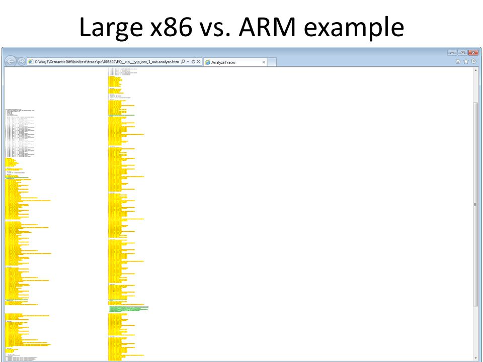 Large x86 vs. ARM example