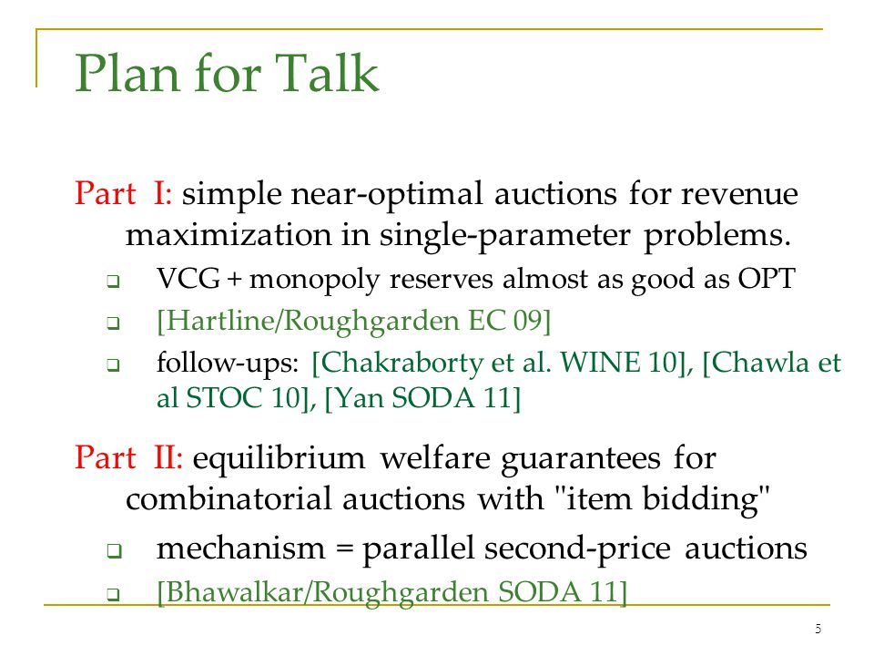 Simple versus Optimal Auctions (Hartline/Roughgarden EC 2009)