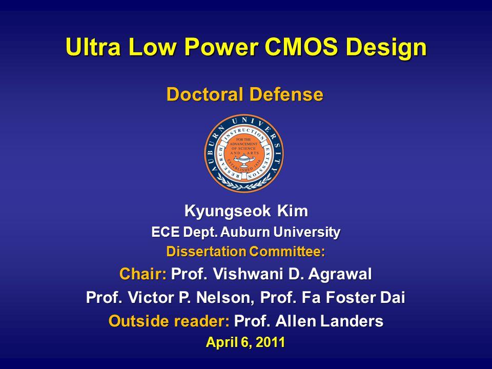 Ultra Low Power CMOS Design Kyungseok Kim ECE Dept.