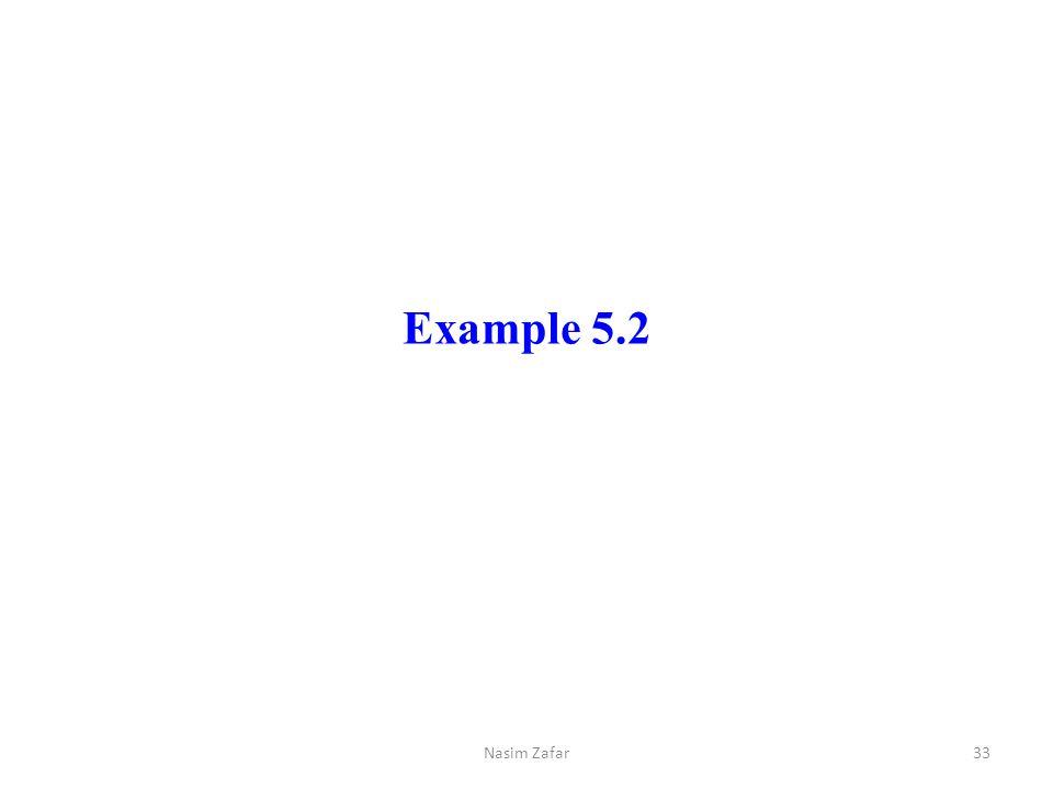 Example 5.2 Nasim Zafar33