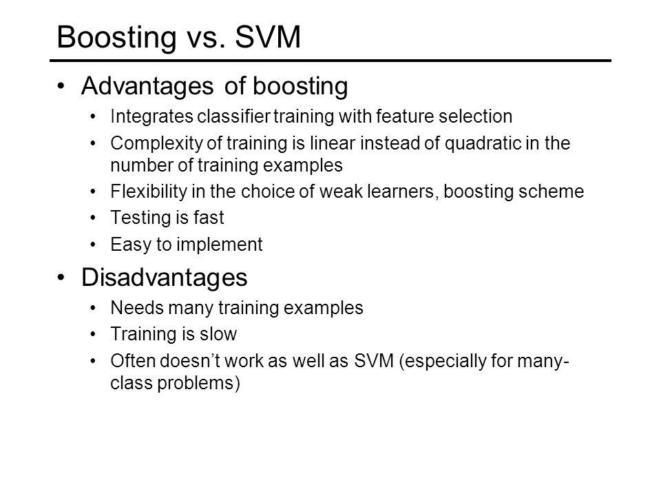 Boosting vs.