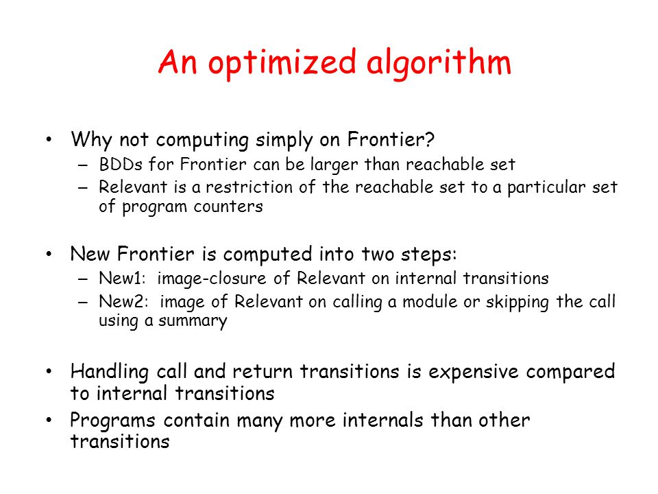 An optimized algorithm Why not computing simply on Frontier.