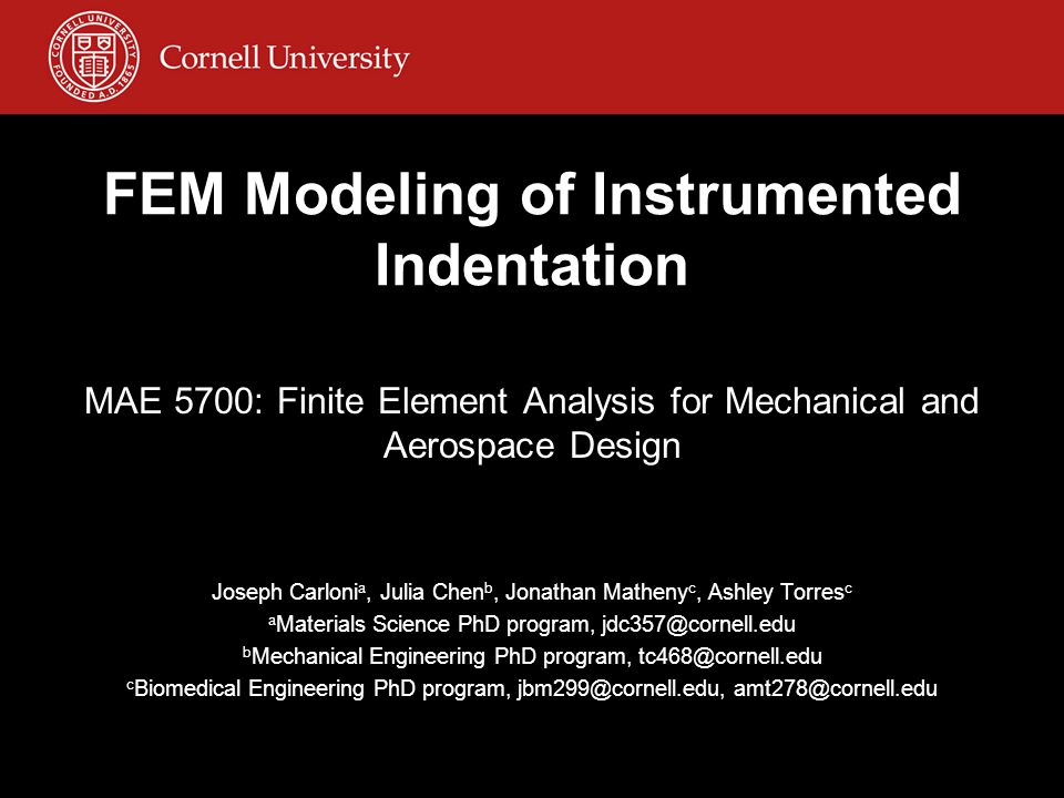 Introduction to instrumented indentation A special form of indentation hardness testing where load vs.