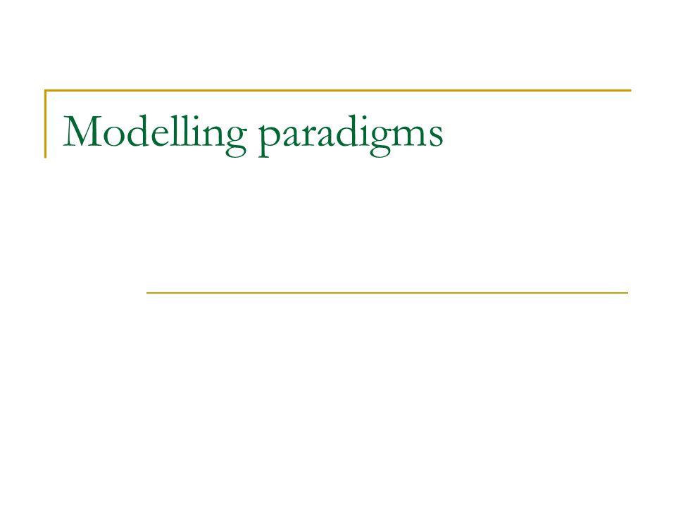 Modelling paradigms