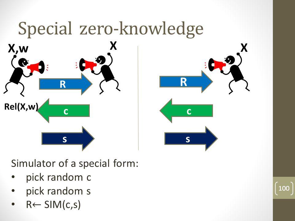Special zero-knowledge for CP 101