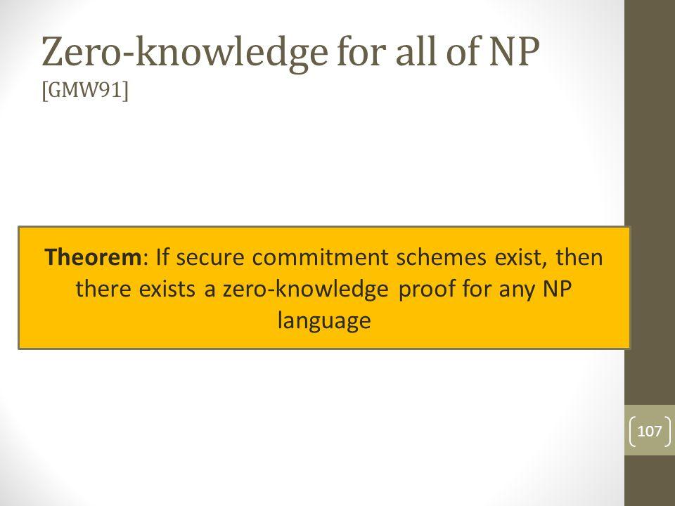 Non-interactive proofs 108 Prover Verifier X,w X