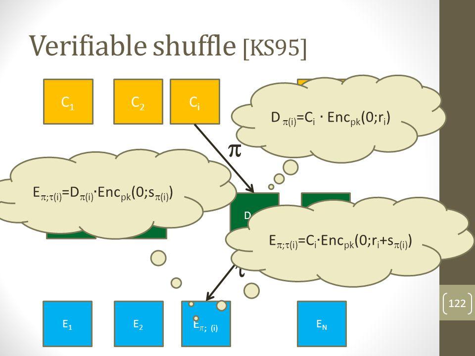 Verifiable shuffle [KS95] 123