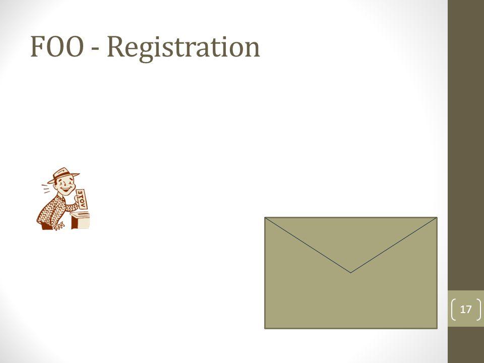 FOO - Registration 18 John Smith