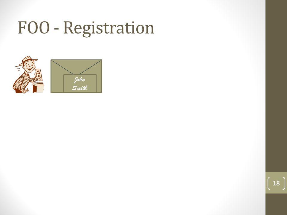 FOO - Registration 19 John Smith John Smith : registered voter who didn't vote yet