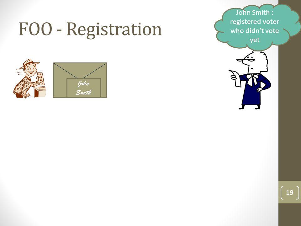 FOO - Registration 20 Valid!