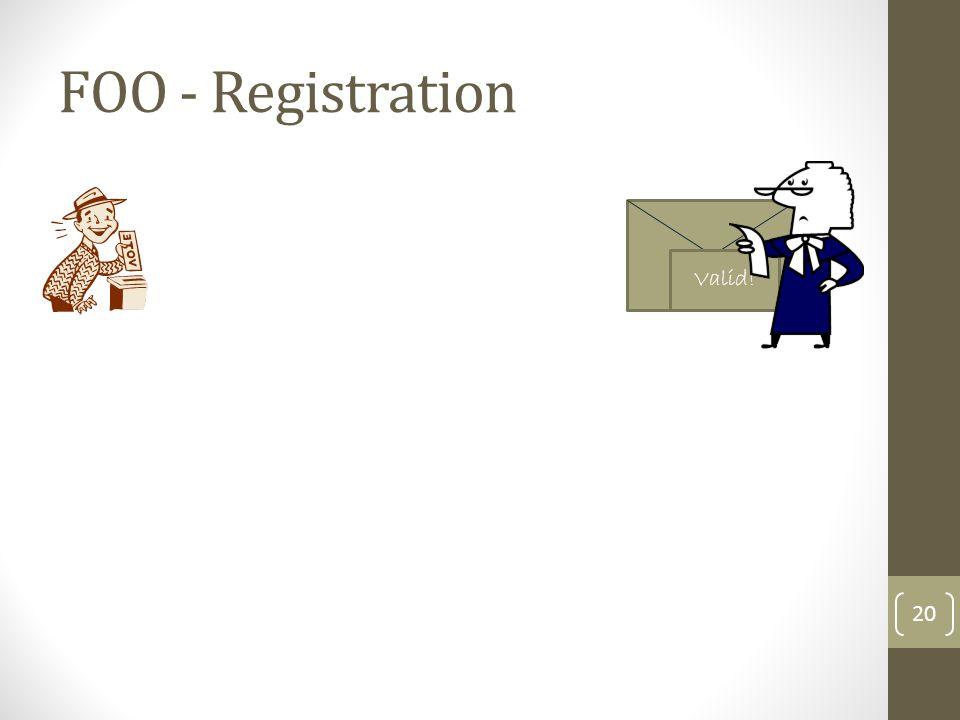 FOO - Registration 21 Valid!
