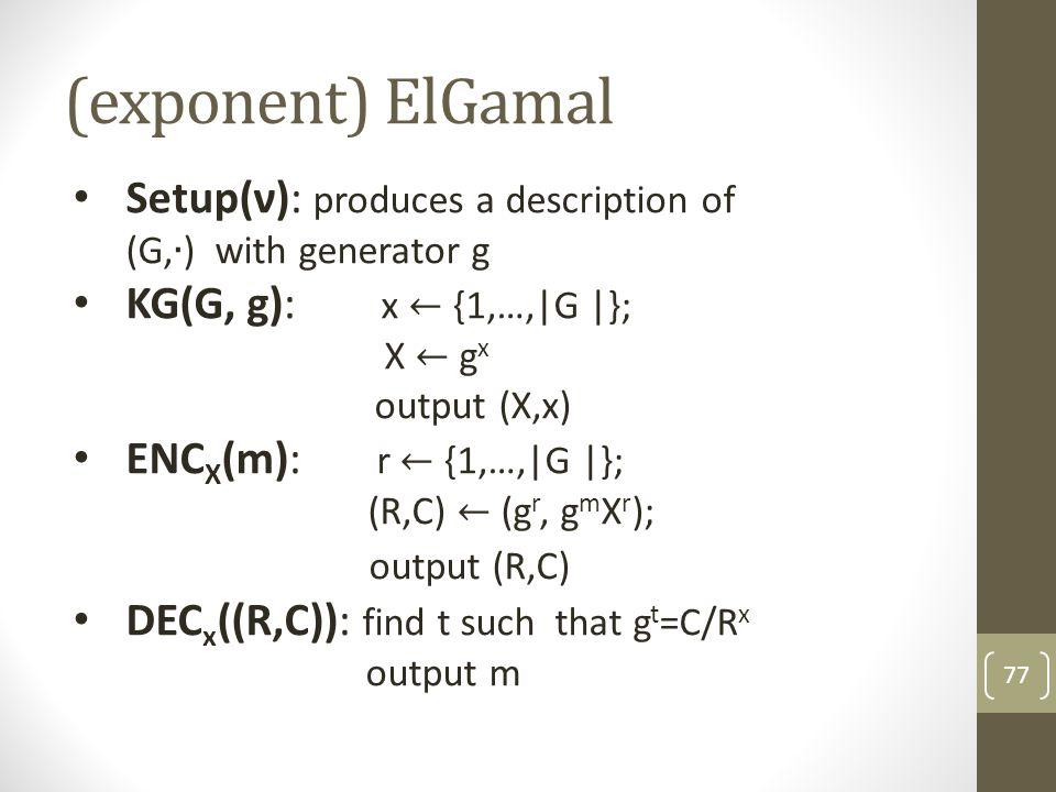 n-out-of-n threshold El-Gamal 78