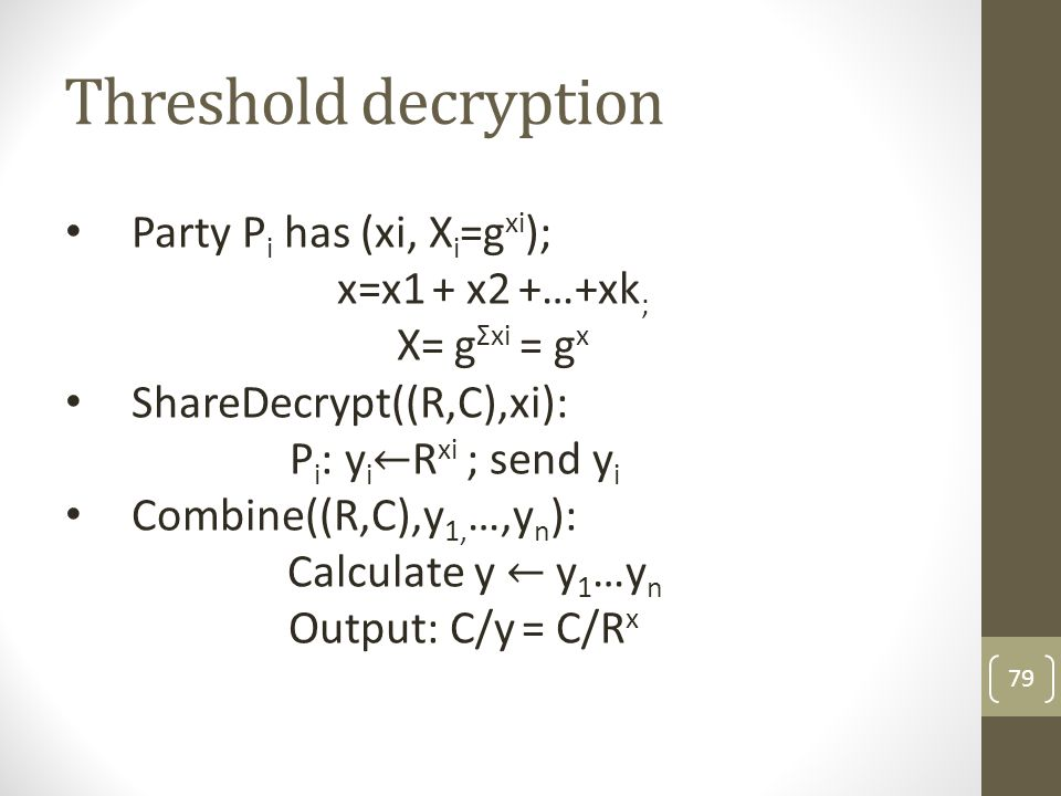 Private but not robust 80 …and I hid my secret key