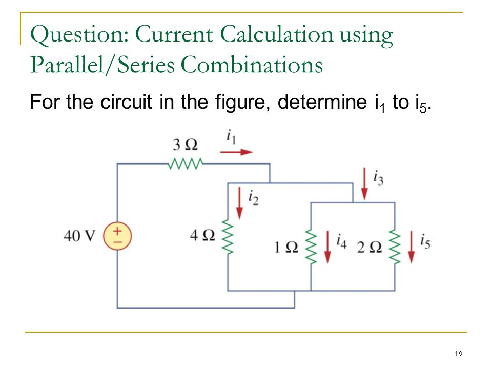 For the circuit in the figure, determine i 1 to i 5.