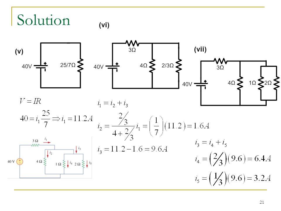 21 Solution (v) (vi) (vii)