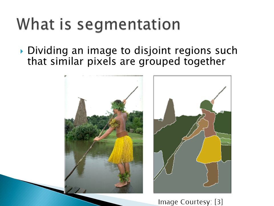  Objective  Constructing image grid  Sort edges in ascending order  For every edge ◦ If Merge criterion is satisfied  Merge