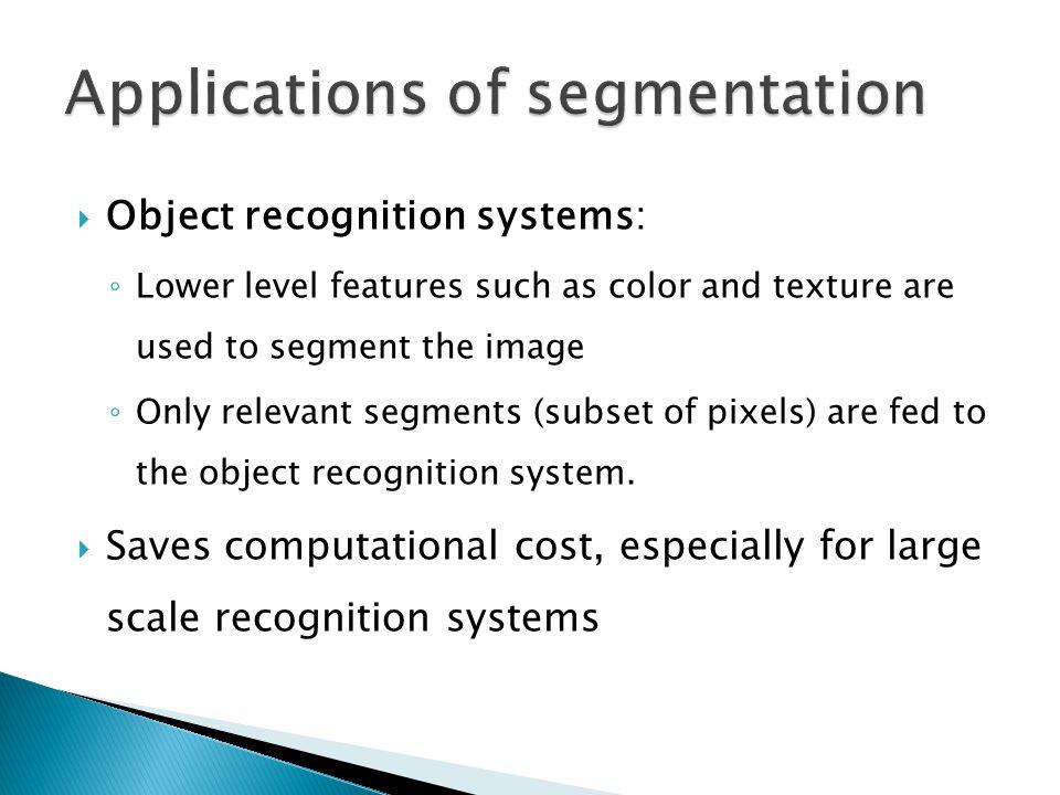  As a preprocessing step in face and iris recognition Face segmentationIris Segmentation